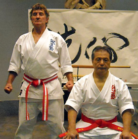 Hanshi Andy and World Seido Karate leader 9th Dan Kaicho Tadashi Nakamura
